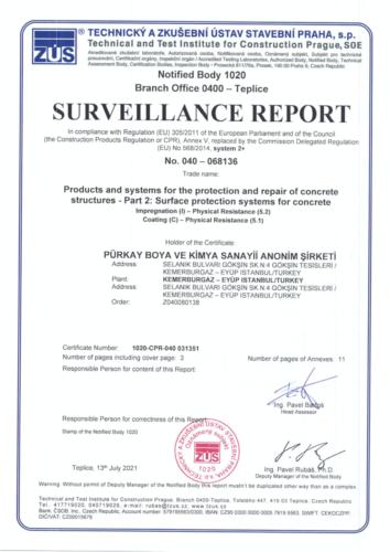 CE Certificate 2021